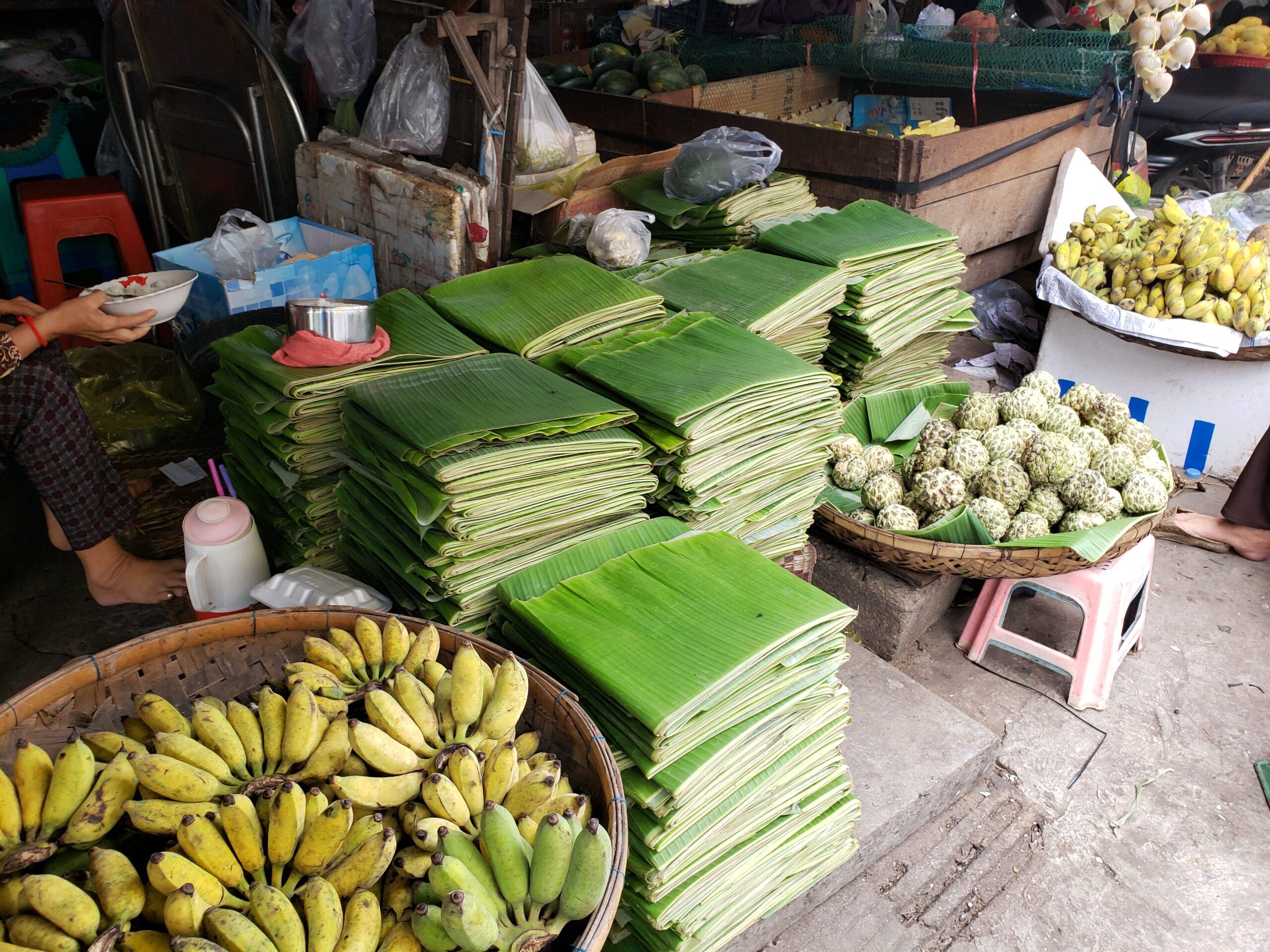 バナナの葉に心躍らされる~バナナの葉の活用例~
